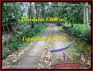 Exotic PROPERTY 1,000 m2 LAND SALE IN UBUD BALI TJUB467