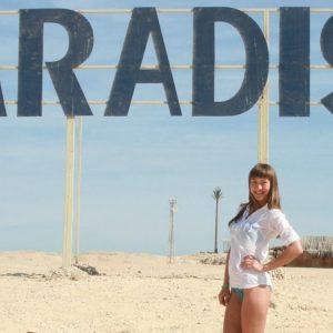 экскурсия на остров Парадайс в Хургаде : фото туриста на пляже острова Гифтун