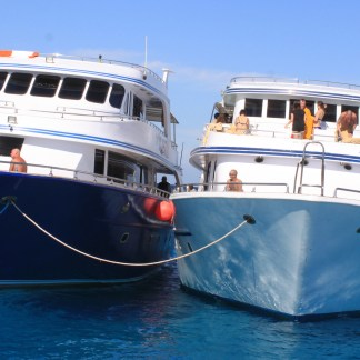 Excursion Snorkeling inTiran from Sharm El-Sheikh: photo of sea yachts in Tiran
