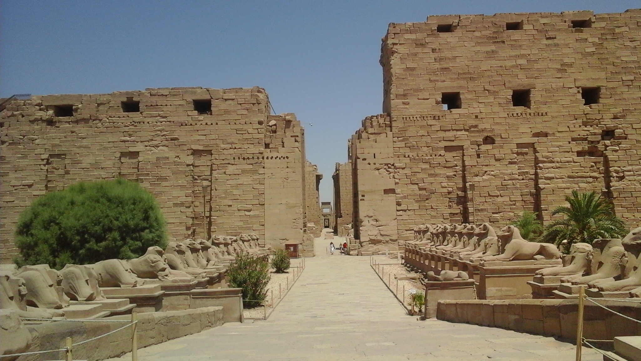 The first pylon in the temple of Karnak