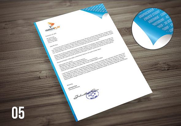 7 Corporate Letterhead Templates Pack Landisher