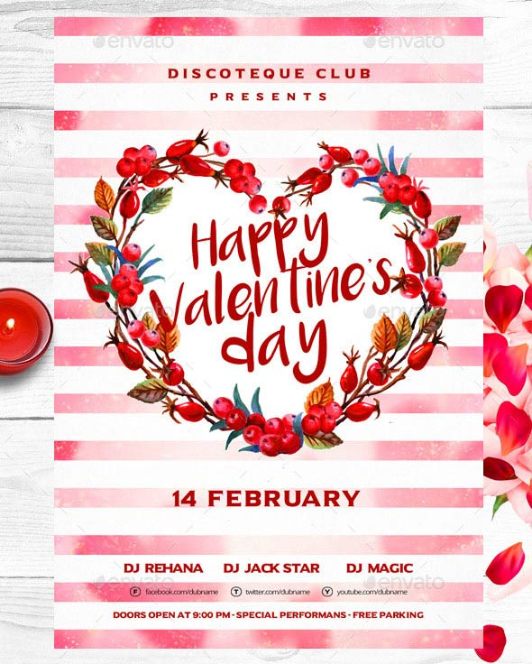 17 Best Valentines Day Flyers Amp Cards Templates 2017