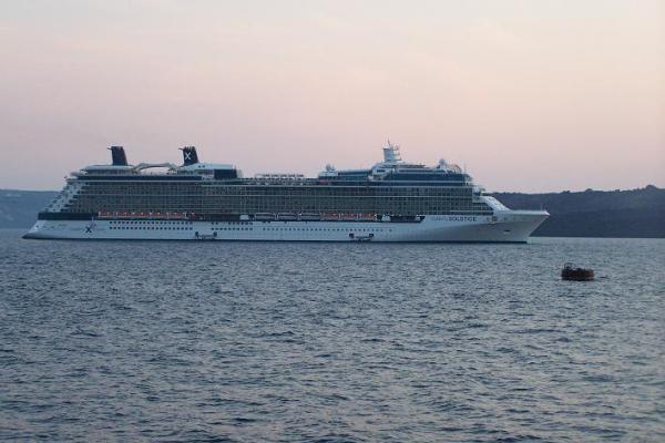 Celebrity Solstice, Docked in Santorini