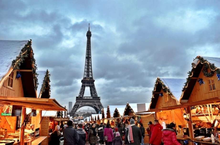 Eiffel Tower Paris Christmas