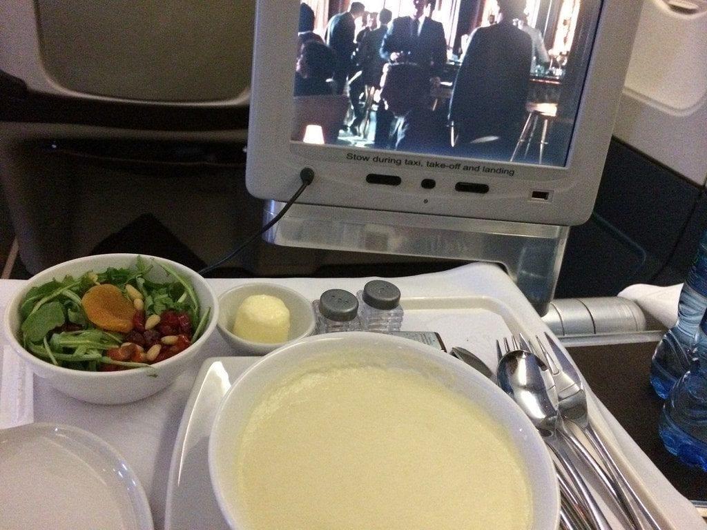 South African Airways plane cabin