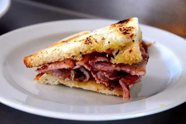 Bacon sandwich, London, UK