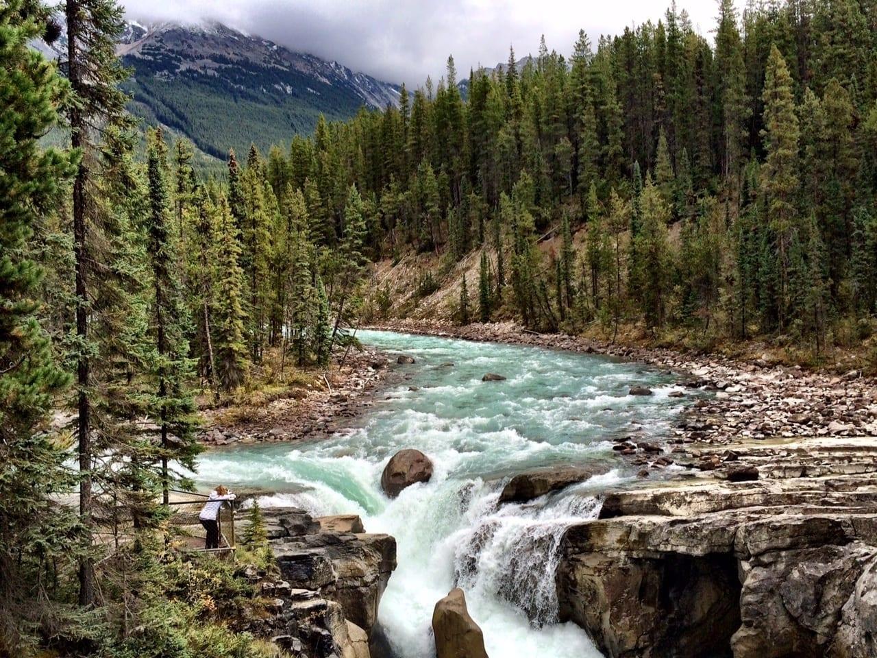 Sunwapta Falls Alberta Canada