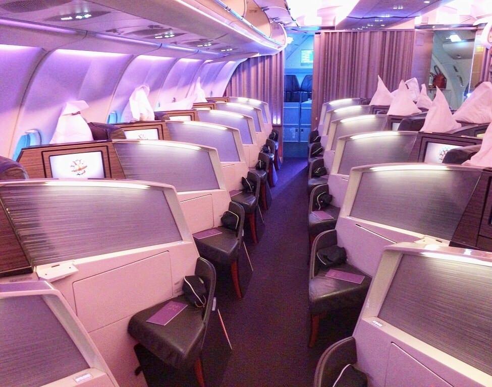 Virgin Atlantic Upper Class Airline Plane