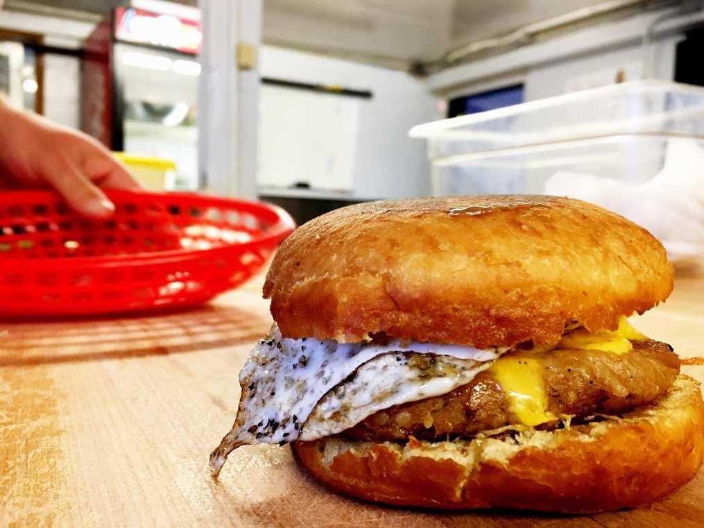 Boudin sandwich Baton Rouge Louisiana