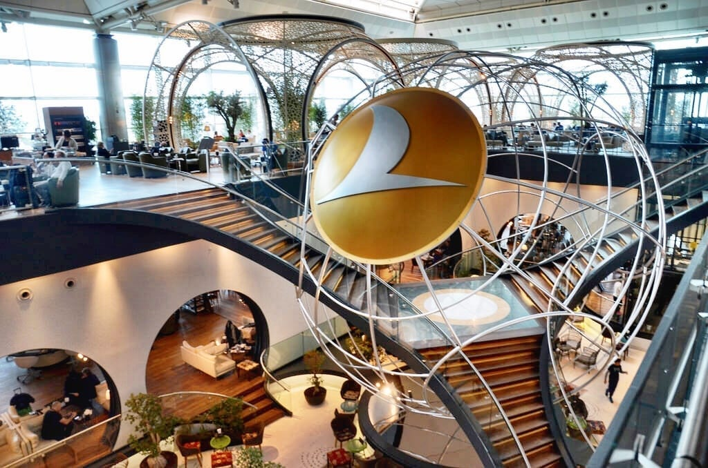 Turkish Airlines Lounge Istanbul Turkey