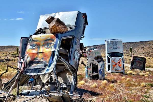 Car Forest Goldfield Nevada