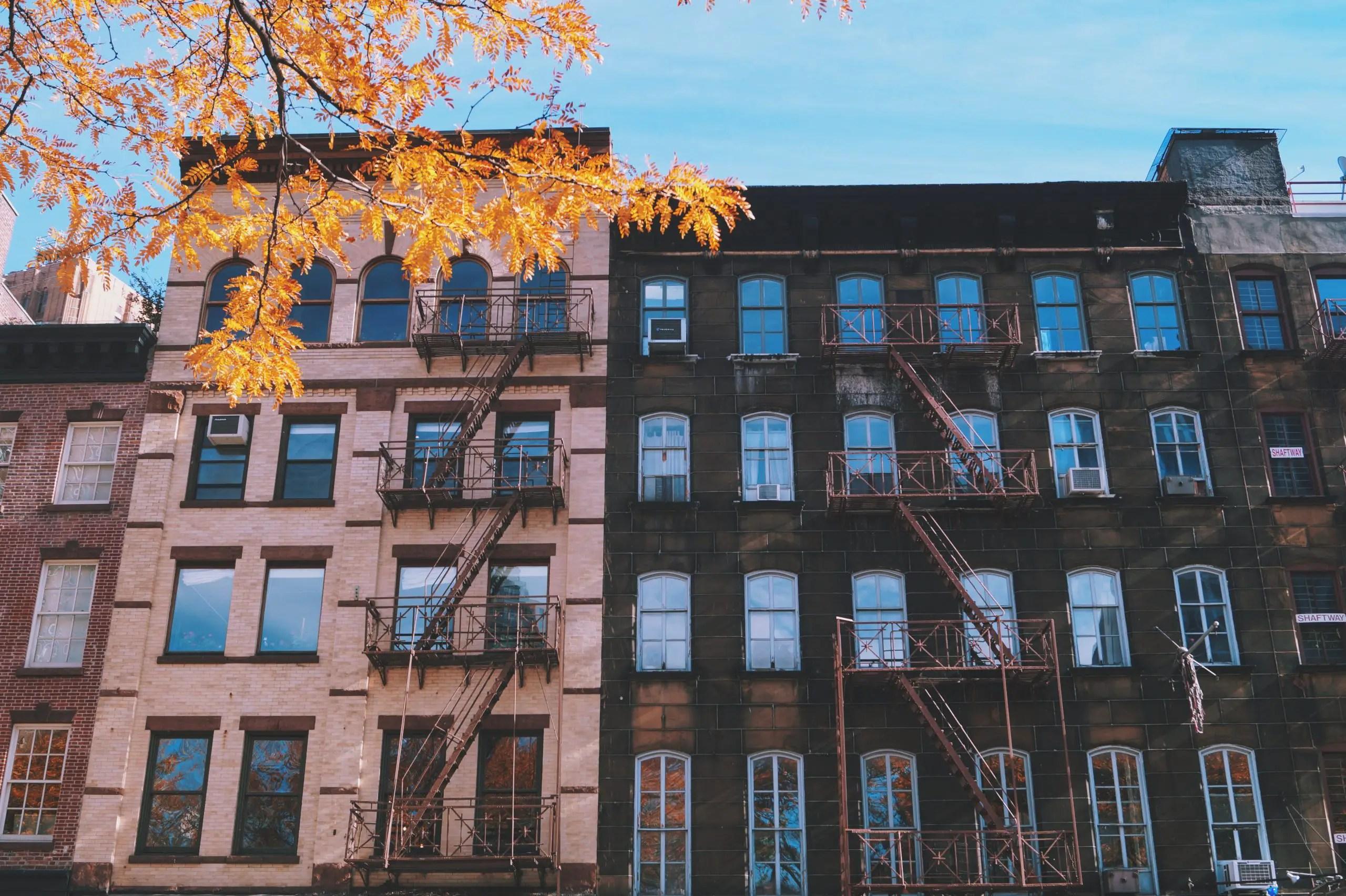 big city brick rental apartment building
