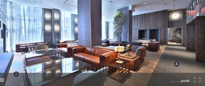 screenshot of luxury apartment lobby