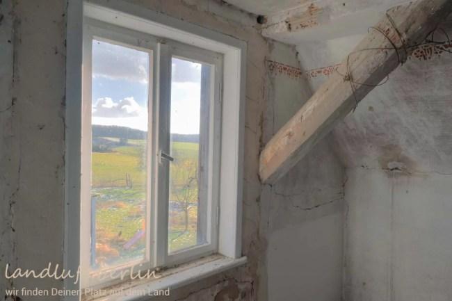 Blick aus der Dachkammer nach Osten