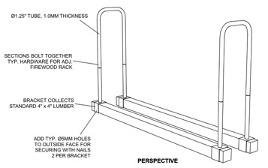 lumberjack series adjustable firewood rack