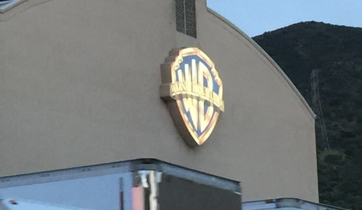 Warner Bros Studio Logo on one of the sound stages