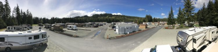 Evergreen Coho RV Park panoramic view