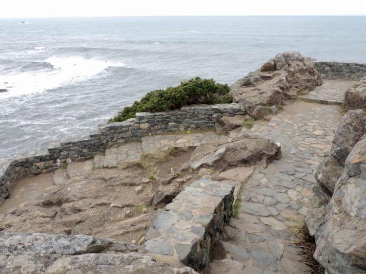 Steps near top of Wedding Rock