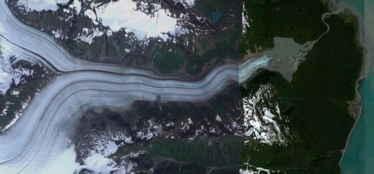 Davidson Glacier satellite view