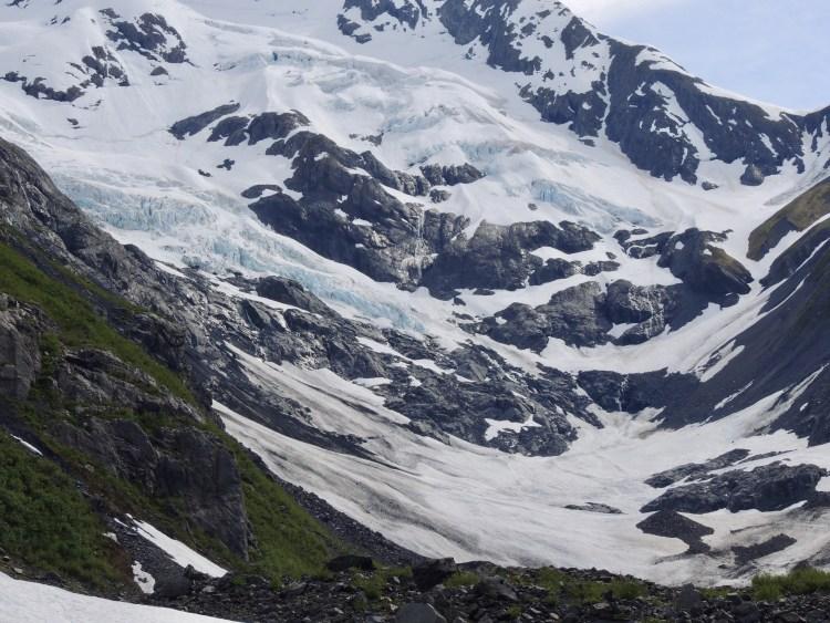 Byron Glacier & avalanche field