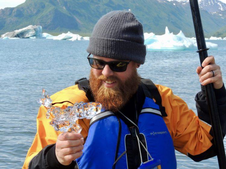 Looking at glacial ice
