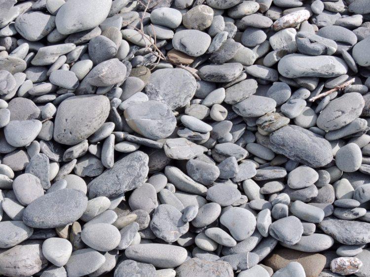 Rocks on moraine