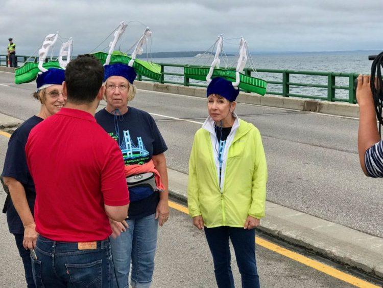Walkers with Bridge hats
