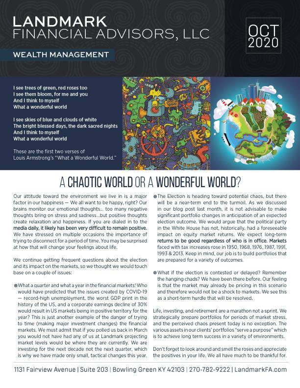 Landmark newsletter OCT 2020