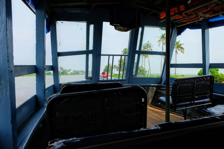 The inside of the Kerala state ferry