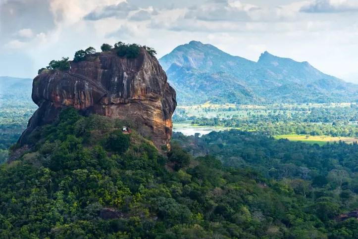 View of Sigiriya Lion Rock from Pidurangala Rock