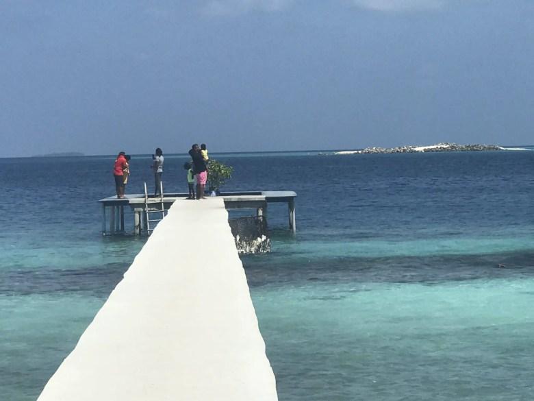 Jetty on Thulusdhoo Island, Maldives