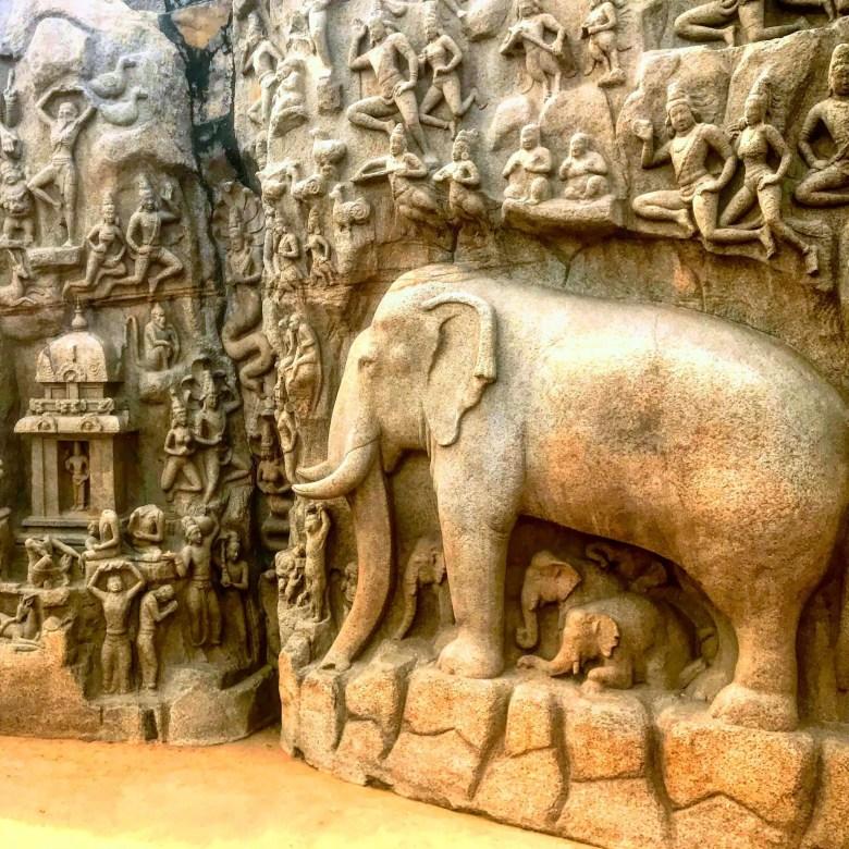 Arjuna's Penance/Descent of the Ganges, Mahabalipuram, South India