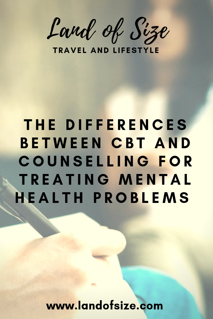 The differences between CBT and counselling for treating mental health problems by someone with OCD