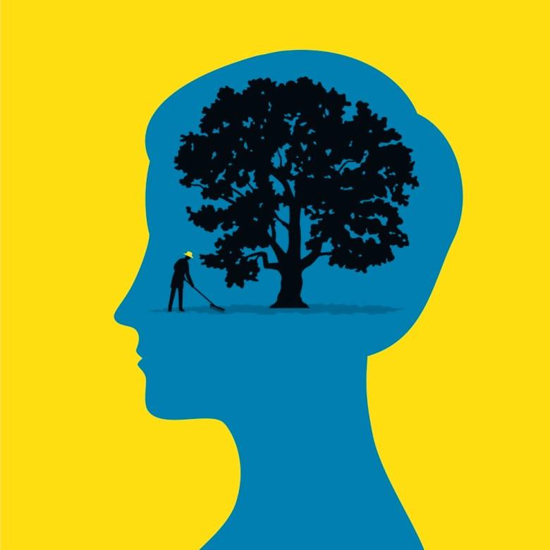 Brain with a tree inside
