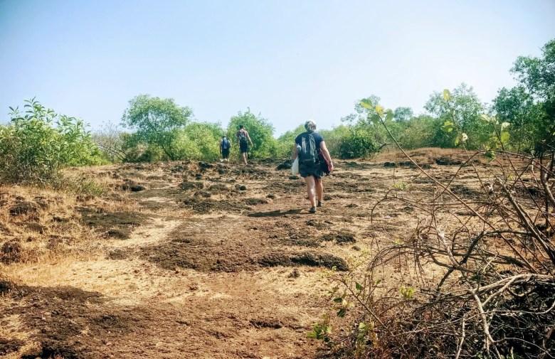 The path to Om Beach, Gokarna