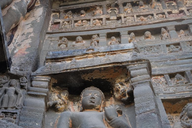 Cave 26, the Ajanta Caves, Maharastra, South India