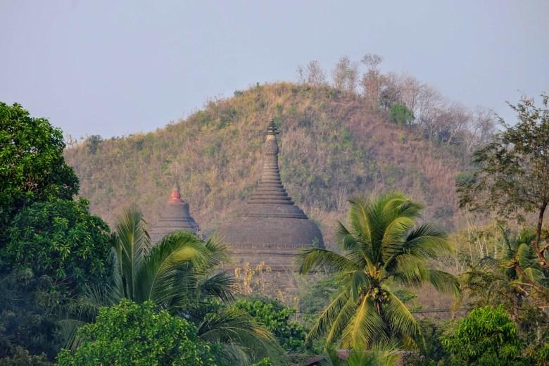 Pagodas south of Mrauk U, Myanmar