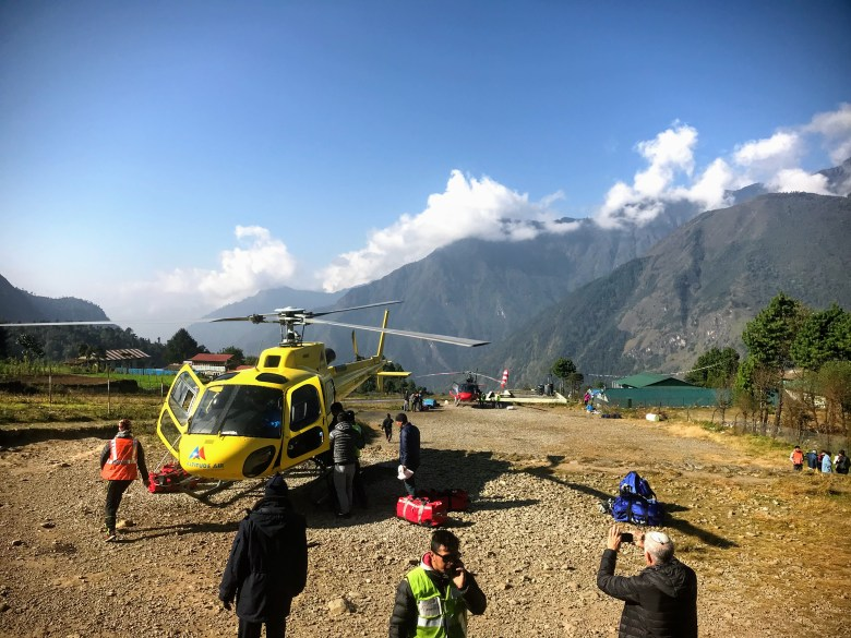 Helicopter at Lukla Airport, Nepal