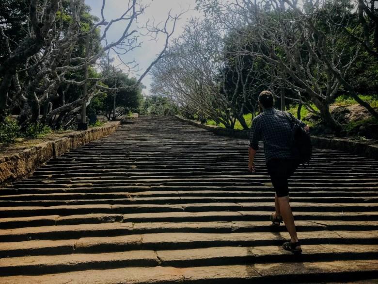 Steps to Mihintale, Sri Lanka