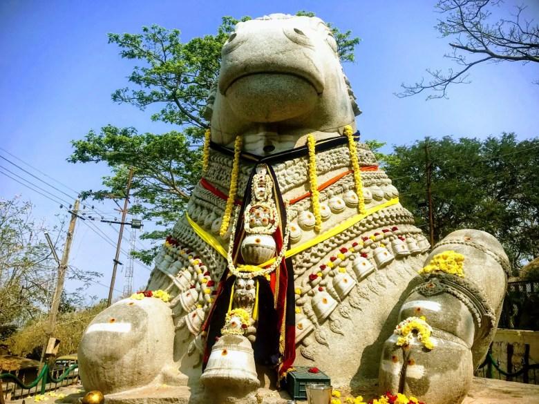 Nandi (bull) temple, Chamundi Hill, Mysore/Mysuru, South India