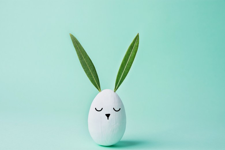 Easter bunny egg with leaf ears, iStock