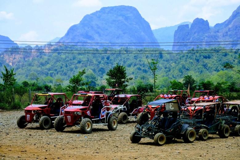 ATVs in Vang Vieng, Laos