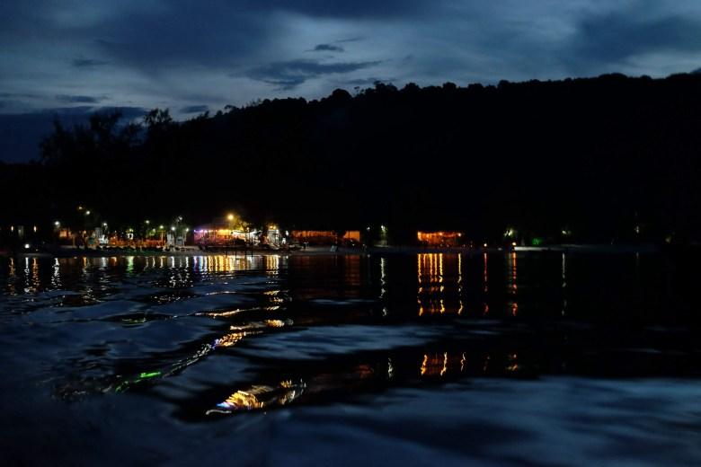 Saracen Bay on Koh Rong Samloem at night, Cambodia