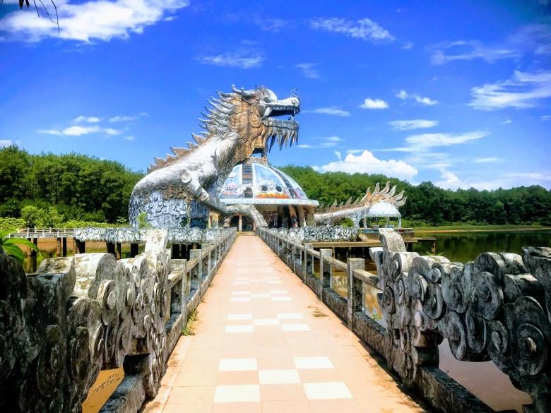 Dragon at Hue's abandoned water park of Thuy Tien, Vietnam