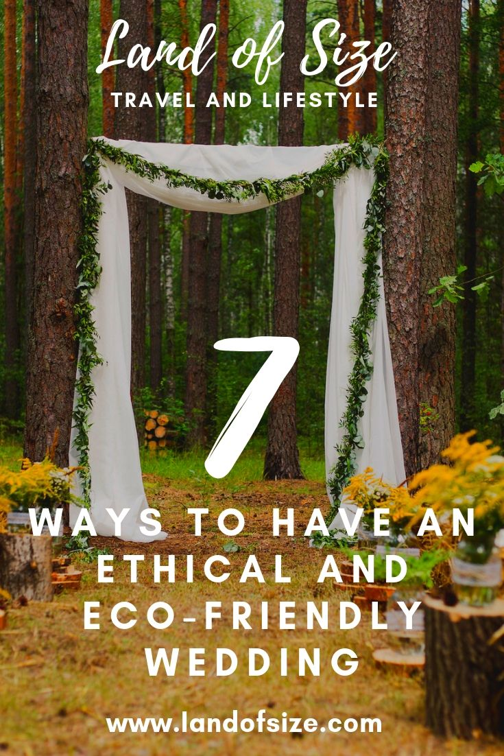 7 ways to have a more ethical and eco-friendly wedding
