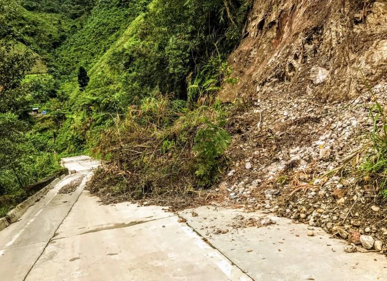 Landslide near Banaue, Philippines