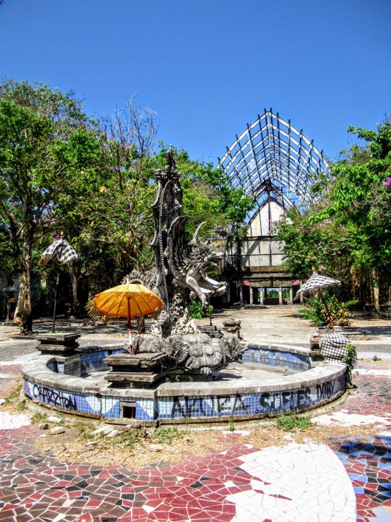 Statue at Taman Festival abandoned theme park, Bali