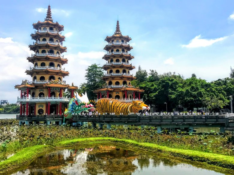 Dragon and Tiger temple in Lotus Pond, Kaohsiung, Taiwan