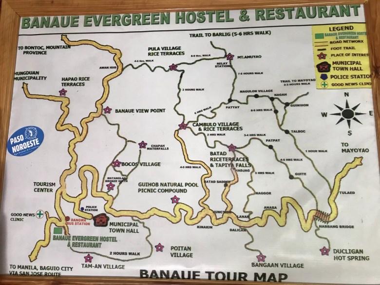 Banaue Tour map, Banaue, Philippines