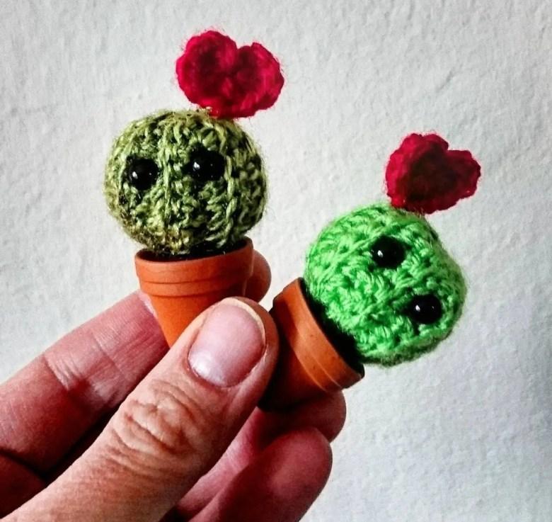 Crochet miniature cactus, Etsy